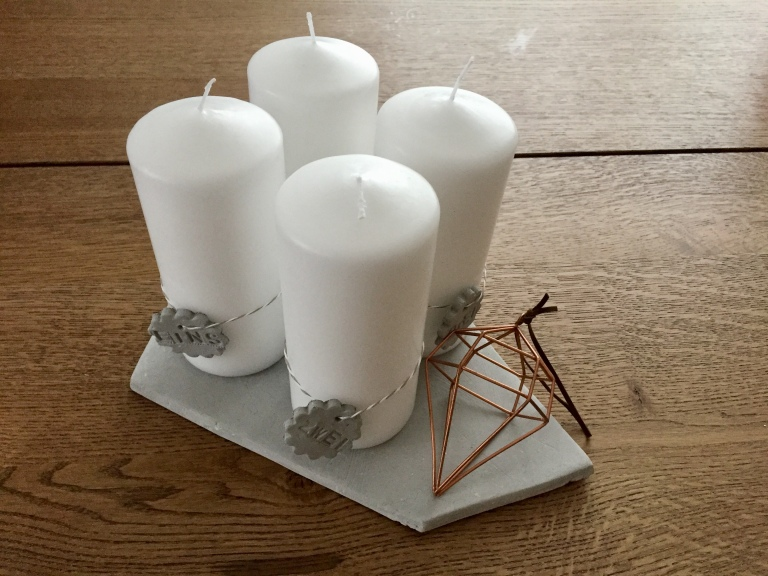 Beton-Adventkranz-DIY